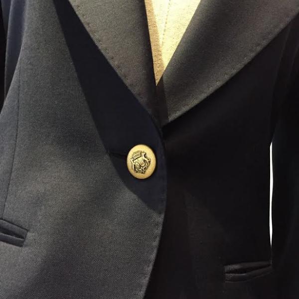 ゴールドメタルボタン