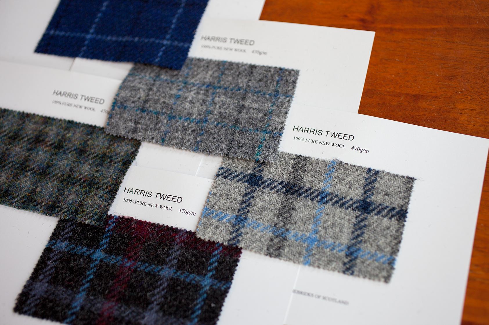 ハリス・ツイード チェック生地 Harris Tweed fabric
