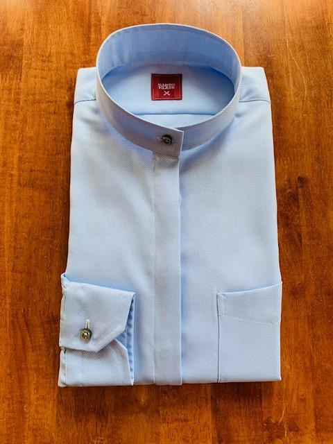 3 - シャツの抜け感 スタンドカラーシャツ