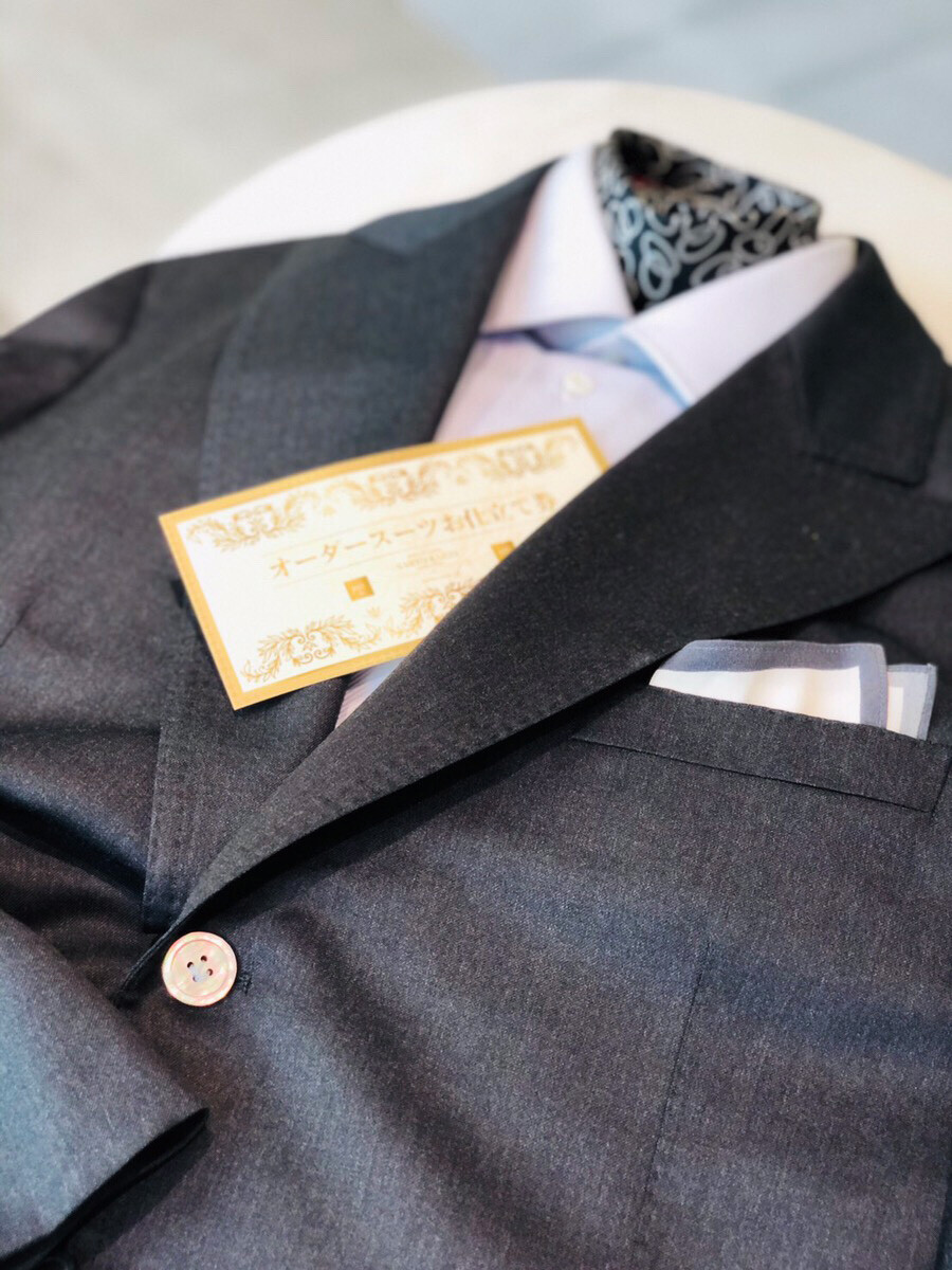 08741 72 - スーツお仕立券 ご利用例