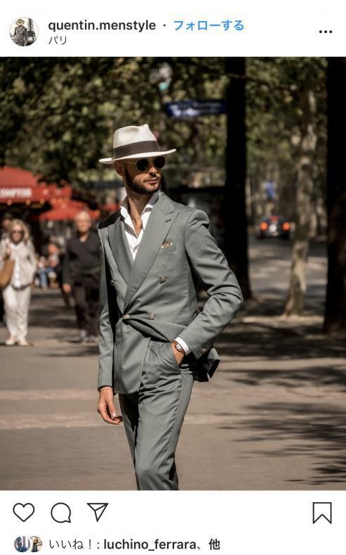 BBE3AE4C AB86 4E92 9966 AD489C32123A 493x789 - 新しい紳士の装い-大注目のグリーンスーツ、ネロ・エ・ヴェルデとは-