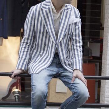 TOP画 - レガッタストライプのジャケット