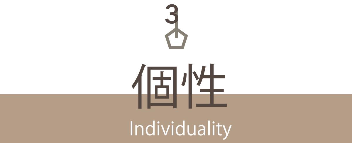 individuality - はじめてオーダーされる方へ