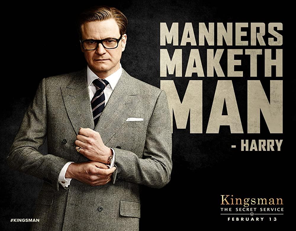 kingsman harry suits gray double plaid - キングスマンに習うスーツの着こなし