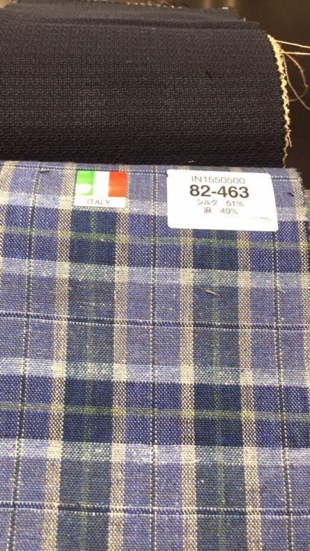 linecamera shareimage 4 3 444x789 - 春夏生地 リネンブレンドのスーツ