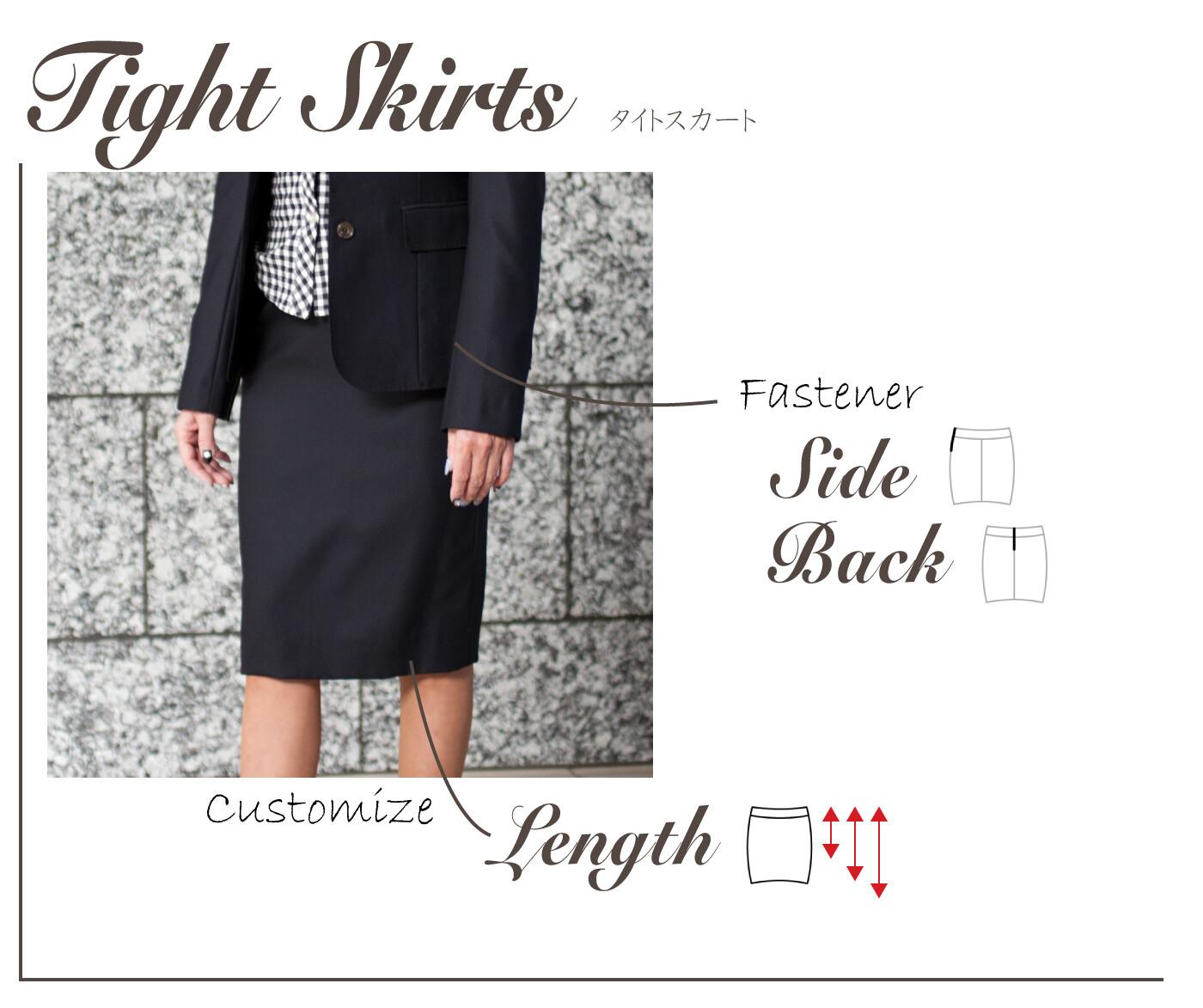 nu breeze ladies tight skirt detail - NU茶屋町店 & 梅田BREEZE店 限定ライン レディーススーツ